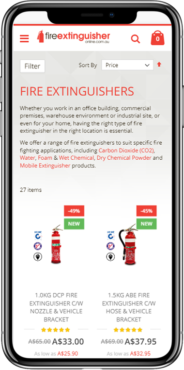 Buy ABE, CO2, DCP Fire Extinguisher Online