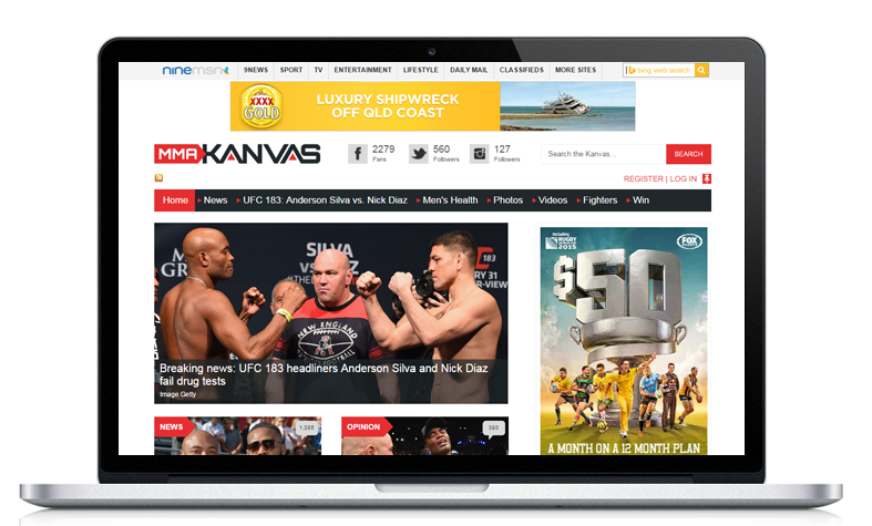 Ninemsn mmakanvas News Management website