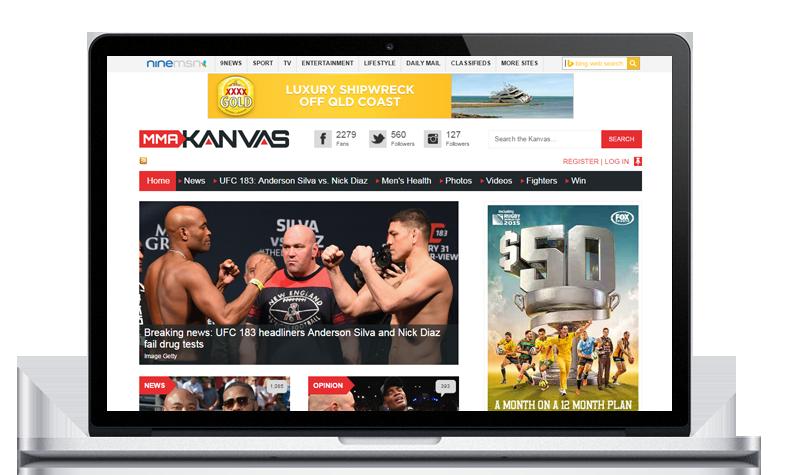 Ninemsn mmakanvas News Management website